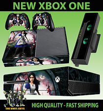 XBOX ONE Console AUTOCOLLANT Alice Madness Returns Wonderland Skin & 2 Pad