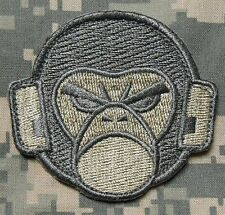 ANGRY MONKEY FACE LOGO USA ARMY MILSPEC ACU LIGHT VELCRO® BRAND FASTENER PATCH