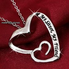 I regali di Natale per la sua migliore amica del cuore collana argento donna Figlia Sorella LOVE
