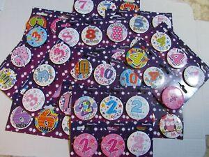 AGE BIRTHDAY BADGES AND HAPPY BIRTHDAY BADGES (One badge)