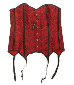 ADORE ME Sexy Red Corset Black Lace Plus size 1X NWT Gothic Witch Victorian 219