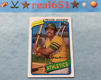 2014 Topps Archives #215 REGGIE JACKSON | Scarce 1980 SP | Oakland Athletics HOF