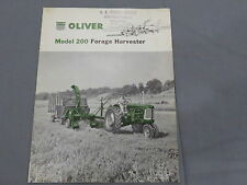 original 1957 Oliver model 200 Forage Harvester sales Brochure Catalog