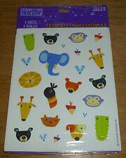 Hallmark Reward Stickers Jungle Zoo Animal Heads 8 Sheets NIP Free Ship Over $15