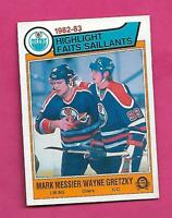 1983-84 OPC  # 23 OILERS WAYNE GRETZKY / MESSIER EX CARD (INV# D2064)