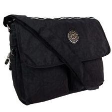 Umhängetasche Schultertasche Stofftasche Nylontasche  CrossOver Tasche schwarz
