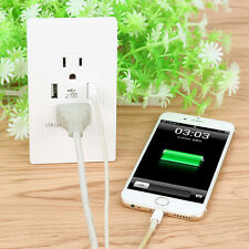 Dual USB Port Wall Socket Charger AC Power Receptacle Outlet Plate Mirror Panel