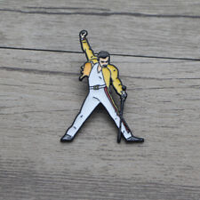 SALE! Freddie Mercury singing Queen Pin Badge brooche Bohemian Rhapsody