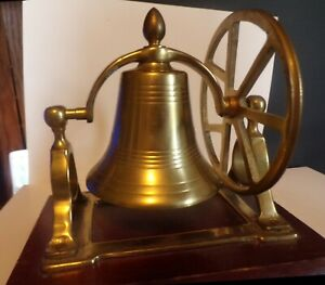 Vintage Signal Ship's Nautical School Hall Church Steeple  BRASS BELL