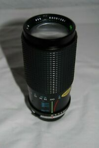 TOKINA 80-200 F/4 ZOOM LENS FOR OLYMPUS SLR..GOOD CONDITION.