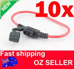 10x Inline waterproof Mini Fuse Holder for car boat automotive fuseholder