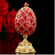 Russia Gift Popular Red Faberge Egg and Miniature Castle in Crafts