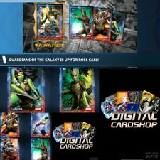 Topps Marvel Collect Card Trader Guardians of the Galaxy Roll Call 6 Card Set