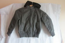 Urban Republic Boy's Faux Leather Jacket with Fleece Hood Size 5/6