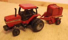 Ertl Case International 5120 w/duals 1/64 diecast metal tractor with baler