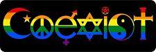 sticker decal car room coexist rainbow peace religious symbol