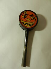 VINTAGE HALLOWEEN NOISE MAKER- JACK-O-LANTERN- USA MADE-1930'S T. COHN INC.