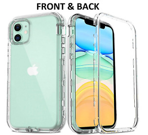 For iPhone 11 12 PRO Max Shockproof 360 Phone Front Cover Back Case XS 7 8+ XR