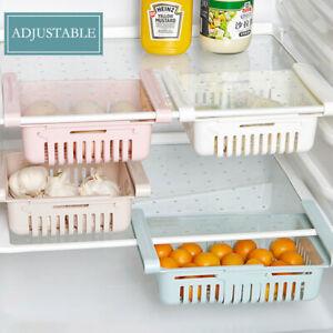 Refrigerator Organizer Drawer Basket Pull-out Spacer Layer Storage Rack