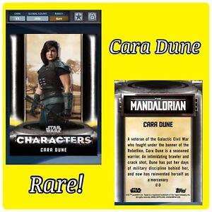 💪DIGITAL💪 Topps STAR WARS Trader CARA DUNE Gina Carano CHARACTERS Black CARD