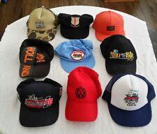 9 Hats Trucker Baseball Cap Vintage VW Camo Branson Streisand Mark Mcguire Lot