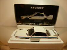 MINICHAMPS BMW 3.0 CSL with SPOILER SET 1973 - WHITE 1:18 - EXCELLENT IN  BOX