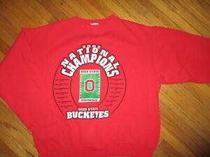 OHIO STATE BUCKEYES FOOTBALL 2002 NATIONAL CHAMPIONS SWEATSHIRT Crew Youth XL