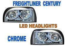 Freightliner Century Headlight (SET) CHROME w/AmberLED DayLight &Turn Signal LED