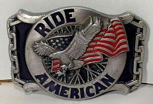 Vintage Buckles Masterpiece Collection Pewter? Buckle-Ride American-BA-227