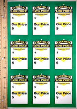 New Lot Of 10 Sheets Perforated Price Tags With Pre Punched Barb String Hole