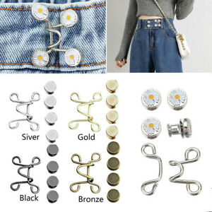 Nail-free Waist Buckle Removable Jeans Pants Size Adjustment Button Tool Set UK