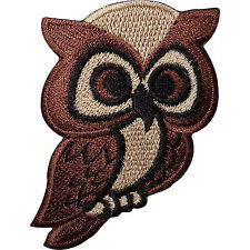 Brown Owl Embroidered Iron / Sew on Patch Bag Jacket Shirt Jeans Badge Transfer