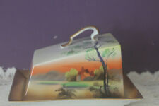 NORITAKE MORIMURA JAPAN HAND PAINTED COVERED CHEESE DISH