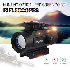 Sight Scope Rifle Red Dot Tactical Green Reflex Laser Optic Gun Rail Mount 20mm