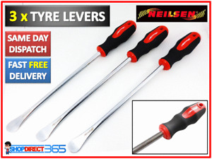 """3X HEAVY DUTY 15"""" 370mm TYRE LEVER REMOVER CHANGER CAR MOTORBIKE QUAD NEW CT2582"""