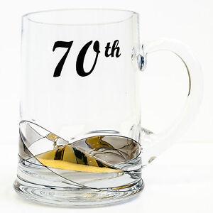 Premium Handmade 70th Birthday Beer Mug Tankard 500ml Glass Personalized Gift