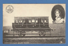 L. &  N. W.  RAILWAY  POSTCARD  -  QUEEN  ADELAIDE'S  RAILWAY  SALOON  -  1904