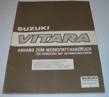 Werkstatthandbuch Anhang Suzuki Vitara Fahrzeuge mit Automatikgetriebe Motor!