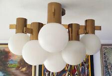 Sputnik Hans Agne Jakobsson for Markaryd - Brass & Glass Chandelier 1960s