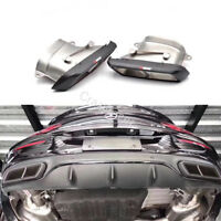 Carbon Rear Exhaust Tips Muffler Pipe for Mercedes Benz W205 C63 E63 S63 S65 AMG