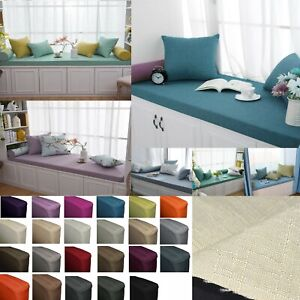 Qh04-Tailor Made*Day Bed Window Bench Chair Pad 3D Box Cushion Cover Pillow Case