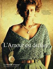 Publicité Advertising 107  1983   Augis la médaille d'Amour  Rosemonde  Gerard