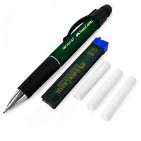 Faber-Castell Grip Plus Mechanical Pencil - Green + 0.7mm HB Leads + Erasers