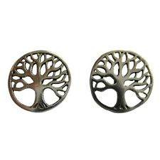 Pair Of Sterling Silver 92  Tree  Of  Life  Ear Studs  !!      Brand  New  !!