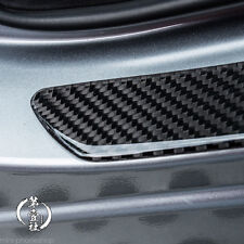 2x Carbon Fiber Car Scuff Plate Door Sill Panel Step Protector Guard Cover 49cm