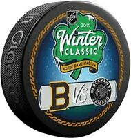 Boston Bruins & Chicago Blackhawks 2019 Winter Classic Dueling Hockey Puck