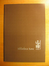 2003 Prospekt Faksimile Verlag Bibliotheca Rara