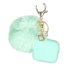 Airpods 1/2 Case Silicone Cover With Pom Pom Keychain And Strap