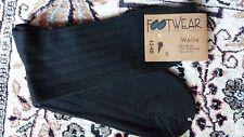 Herren Jeans Socke Strumpf Wolle Feinstrick FOOTWEAR Luxus Schwarz Neu Gr. 43/46