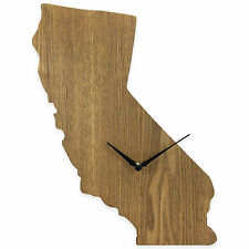 California State Shaped Wood Grain Wall Clock Collection